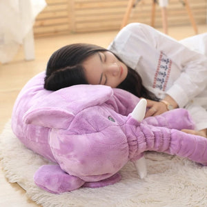 kawaii-cute-light-purple-elephant-plush-children-Asian-woman-sleeping