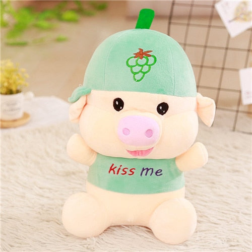 Fruit-Hat-Pig-Plushie