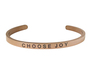 CHOOSE JOY- 4MM ENGRAVED