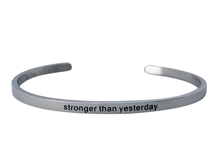 STRONGER THAN YESTERDAY-3MM DEEP STAMP