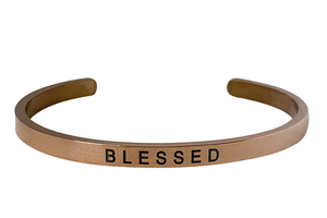 BLESSED- 4MM ENGRAVED