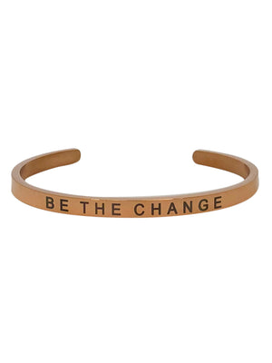 "Inspirational bangle with ""be the change"" inscription"