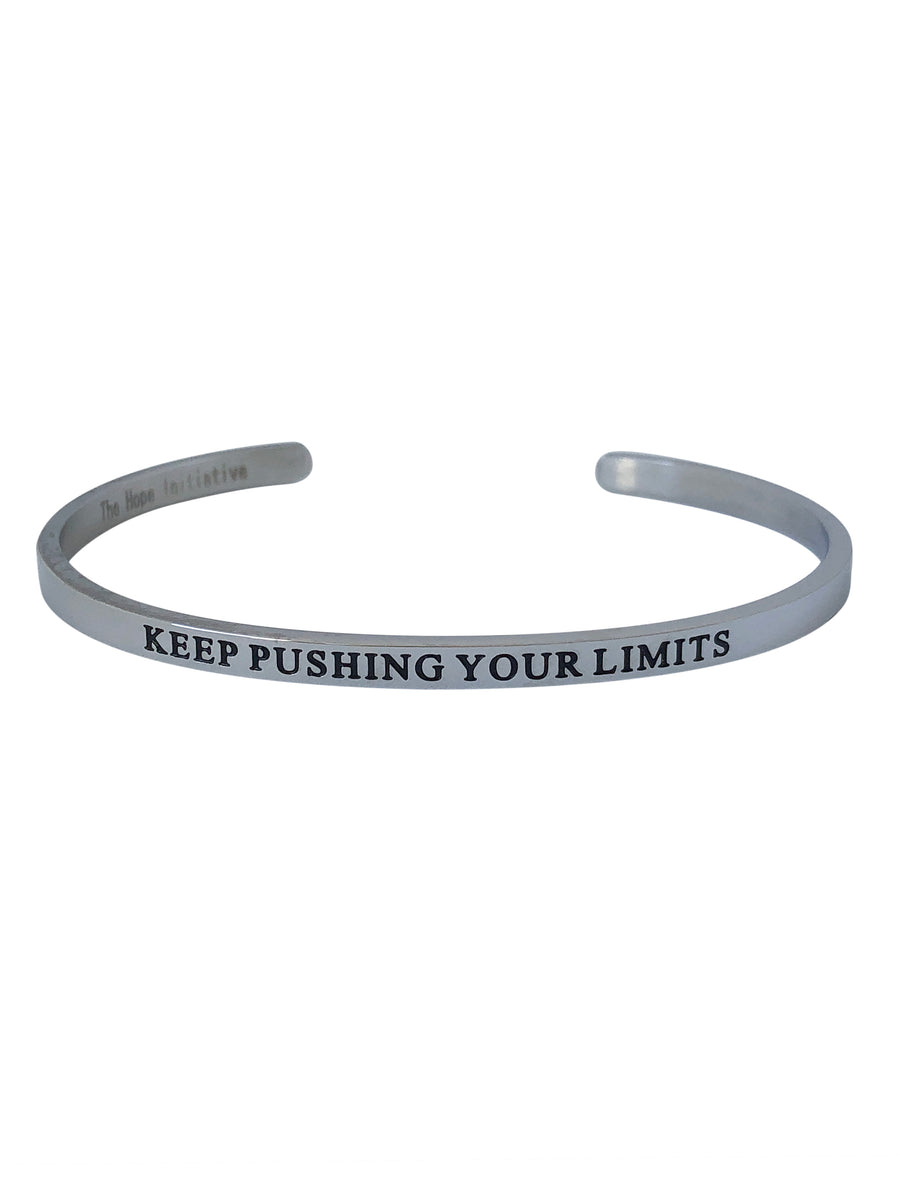KEEP PUSHING YOUR LIMITS-4MM DEEP STAMP