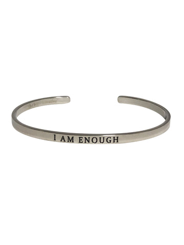 metal bangle with inspirational message