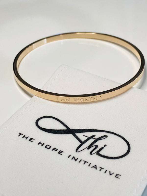 I AM WORTHY- full bangle