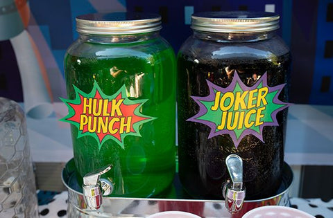Superhero Juice Labels
