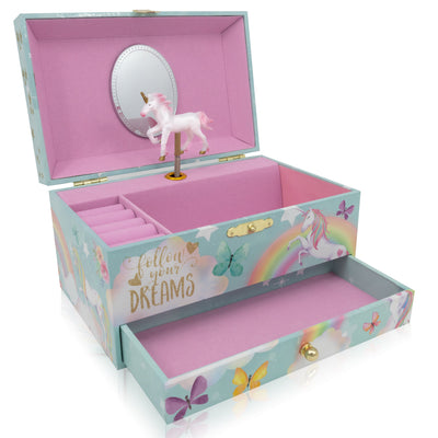 Unicorn Music Box and Jewelry Set