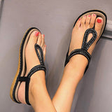 Women's Summer Comfort Sandals Flat Heel Bohemian Sandals Braided  Beach Holiday Daily
