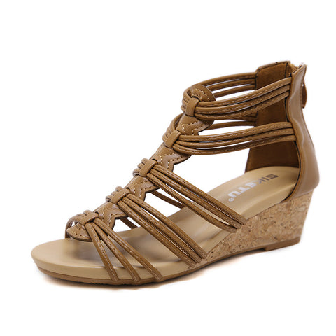 Women's Casual Ankle  Roman Style Wedges Summer Sandals