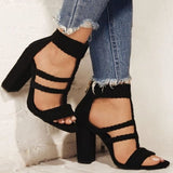 Women's Sandals Fashion Casual Style 2019 Autumn New Open Toe High Heel