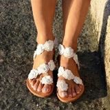 Women's Summer Comfort Sandals Flat Heel Fashion Casual Elegant Floral Style Lightweight