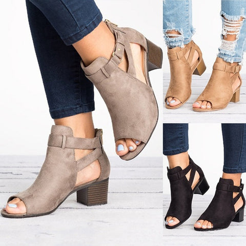 Women's Chunky Heel Sandals