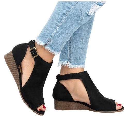 Women's Summer Comfort Sandals Wedge Heel Roman Sandals Open Toe