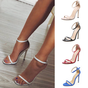 Women's Classic Sexy Open Toe Stiletto Heels Shoes Large Size