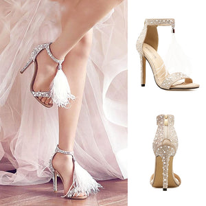 Women's Shoes High Heels 2019 Summer New Beads Fashion Style