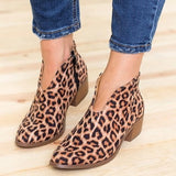 Women's Shoes Flat Hot Sale Large Size Fashion Leopard Thick Boots