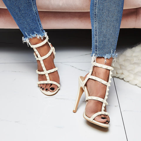 Women's Shoes High-heeled T-strap Sandals 2019 Summer New Sexy
