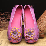 Women's Hand Made Casual Vintage Leather Flat Comfortable Slip On