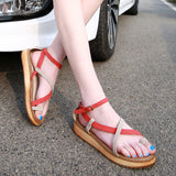 Women's Summer Casual Cross Straps Sandals Beach Shoes