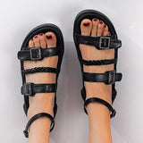 Women's Roman Sandals Strappy Summer Fashion Thick Sole