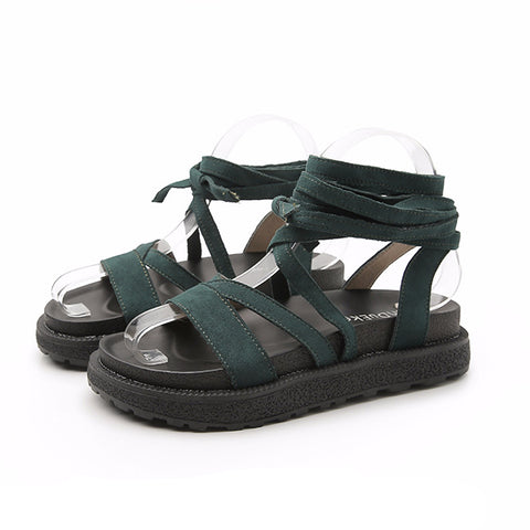 Women's Casual Ankle Cross Strap Roman Style Summer Sandals