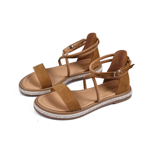 Women's Roman sandals cross straps Vintage Sandals
