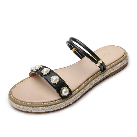 Women's Comfort Bohemian Sandals Outdoor Slippers Flat Heel