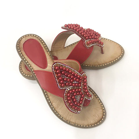 Women's Fashion Rhinestones Summer Sandals Beach Shoes Slippers