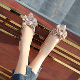 Women's Comfort Flats Shoes Pointed Toe Classic Bow-Knot