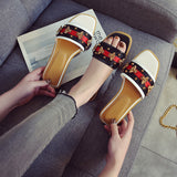 Women's Fashion 2019 New Slippers Comfort Flat Heel Rivets