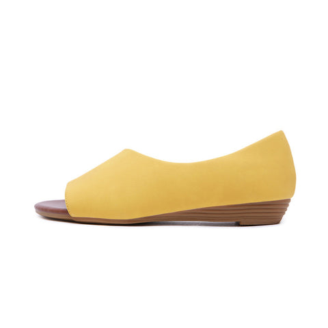 Women's Casual Leather Flats Low Heel Beach Shoes