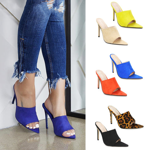 Ins Fish Mouth Pointed High Heels