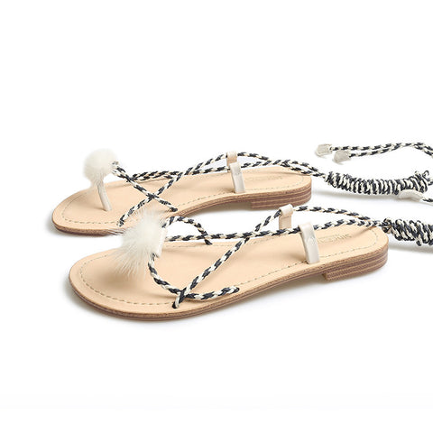 Fashion Womens Sandals with Ankle Straps