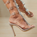 Bohemian Style Long High Heel Womens Sandals