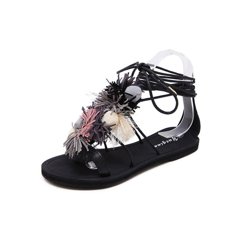 Casual Flat Heel Straps Sandals for Women
