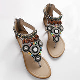 Bohemian Style Beads and Sequins Sandals for Women