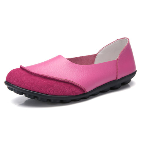 Leather Suede Flats for Women