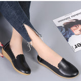 Leather Casual Soft Sole Non-slip Simple Women's Shoes