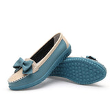 Casual Leather Flats for Women Bowknot