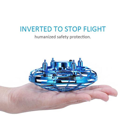 Ufo Mini Drone Small Intelligent Induction Flying Saucer Four-axis Aircraft Resistant to Suspension Aircraft Toy