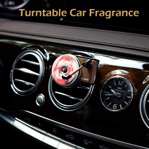 RETRO RECORD PLAYER CAR AIR VENT FRAGRANCE DIFFUSER