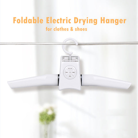 Foldable Electric Drying Hanger for Clothes & Shoes