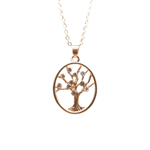 Women's Tree Shape with Diamond Necklace Sweater Chain