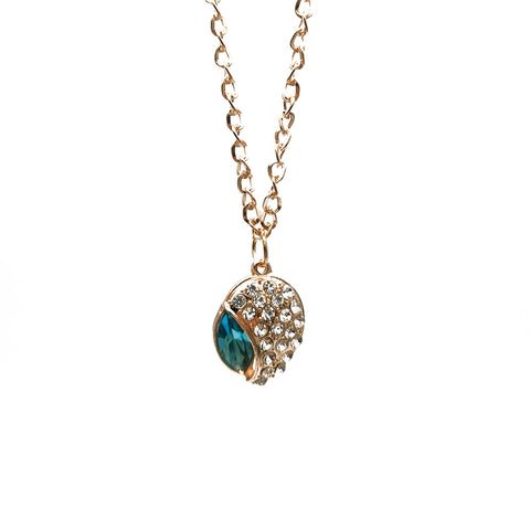Women's Teardrop-shaped Diamond Crystal Fashion Necklace Sweater Chain