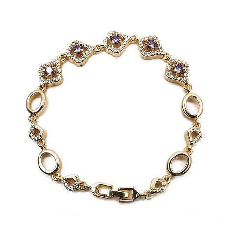 Women's Purple Diamond Bracelet Fashion Accessories