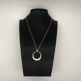 Women's New Round Styling Diamond Necklace Sweater Chain Accessories