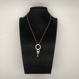 Women's New Round Diamond Necklace Sweater Chain Apparel Accessories