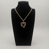 Women's Heart Shape Diamond Crystal Fashion Necklace Sweater Chain Clothing Accessories