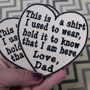 Custom Heart Shaped T-shirt Patch - Iron-on Patch - 4 inch