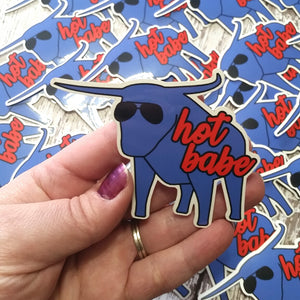 "NEW! Ready to ship - 'Hot Babe' Vinyl Sticker - 3.4"" x 2.7"""